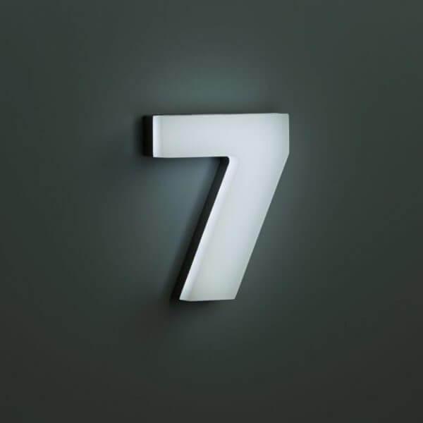 beleuchtete Zahl