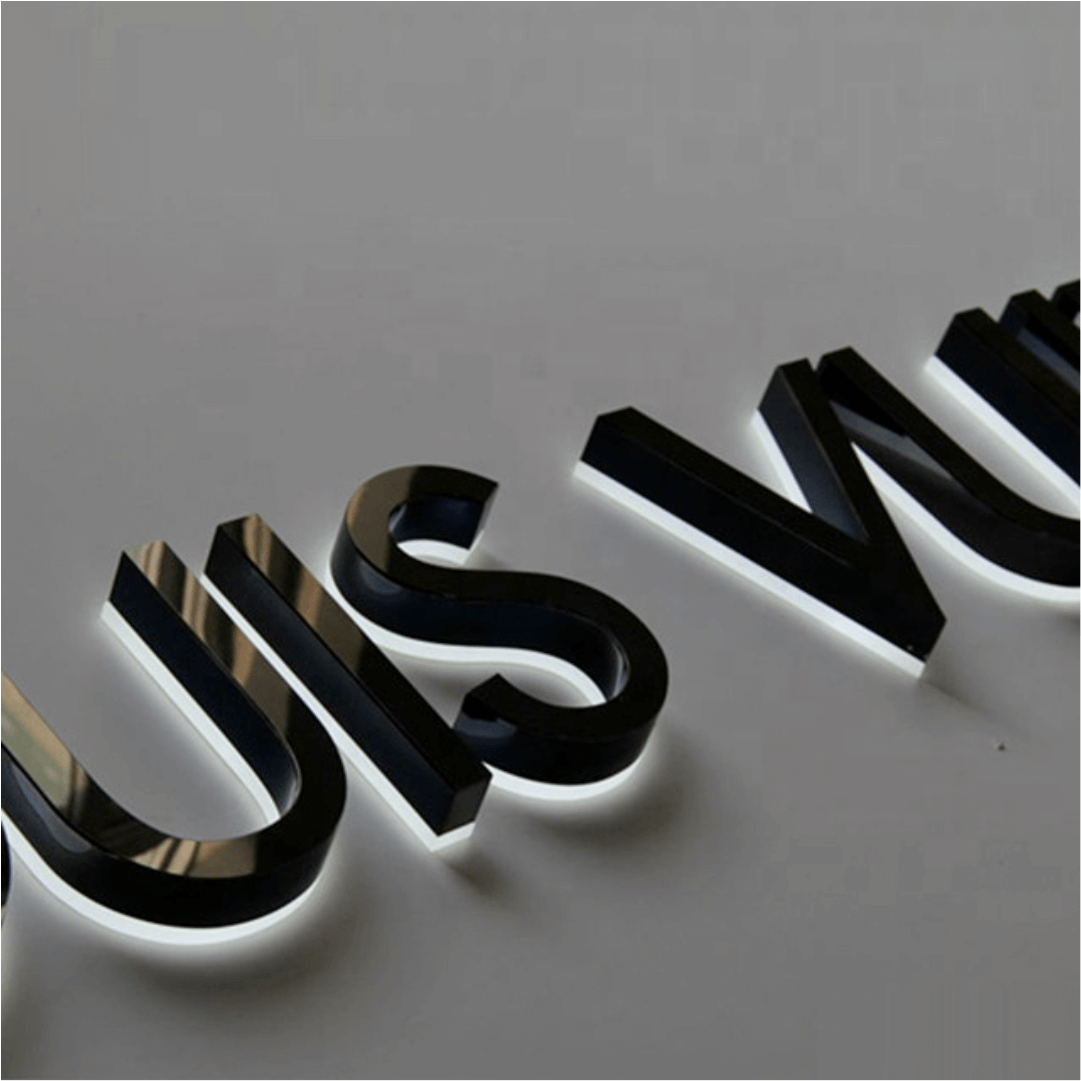 Einzelbuchstaben beleuchtet