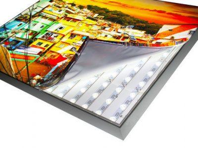 Spannrahmen mit LED Beleuchtung